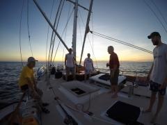 The boat at sunrise