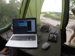 F4BKV testing the SUNSDR in the pileups