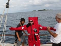 EA3NT testing the survival suit